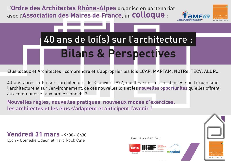 40 ans de loi s sur l architecture colloque le 31 mars for Loi sur les constructions